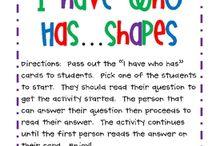 Kindergarten--Math--Shapes / by Amber Bilow