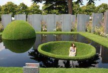 Landscape, garden.