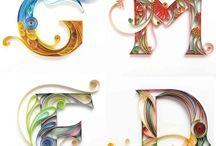 letras em papel