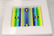 fused glass strip construction