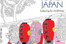 Secret Japan colouring book Zoe De Las Cases