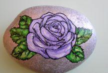 Ruže / Ruže malovane na kameni
