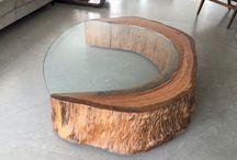 dřevěné  stolky napady