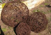 Barbed wire garden art