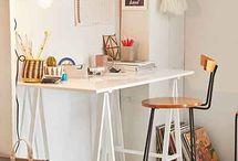 desks & chairs.