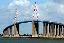 Ponts sur la Loire / Tout les ponts sur le fleuve  : La Loire très interessant ! Il existe en France et a l'etranger beaucoup de ponts suspendus, ce sera l'occasion d'autres tableaux.