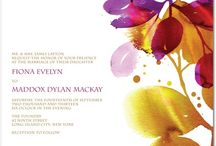 Beautiful Invitations / Colorful wedding invitations to complement your Art Ketubah!