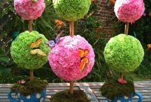 Topiary flower arrangement