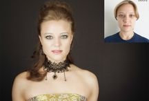 Before and After / Before and after glamour contemporary portraits