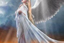 angel,devil,witch