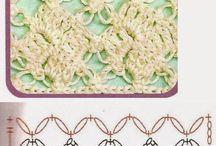 pontos de crochês