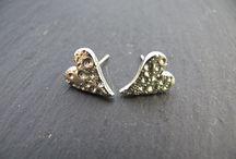 Handmade Sterling & Fine Silver Earrings - Handmade by Gillian Veal of Silvella Jewellery / A selection of handmade silver earrings from Gillian Veal at Silvella Jewellery   www.silvella.co.uk  www.facebook.com/silvellajewellery