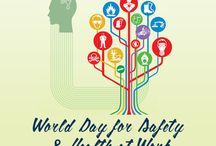 """World Day for Safety and Health at Work / World Day for Safety and Health at Work takes place on April 27, 2016. The day was declared by the International Labour Organization (ILO) to promote the prevention of occupational accidents and diseases globally. World Day for Safety and Health at Work is an awareness-raising campaign """"intended to focus international attention on emerging trends in the field of occupational safety and health and on the magnitude of work-related injuries, diseases and fatalities worldwide""""."""