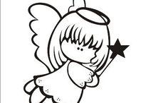 aniołki rysunek