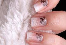 nail designs winter gel