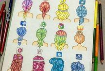 Loga / Loga sociálních sítí.