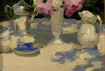 Flores, barro y porcelana