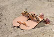 Leather Handmade Sandals col. Leopard