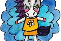 Artwork: Animals of Inspiration Watercolor Illustrations
