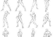 Studio umano / posture maschili