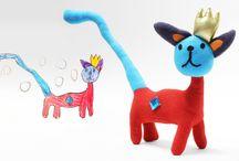 Mali projektanci / Zabawki i maskotki wykonane na podstawie rysunków dzieci