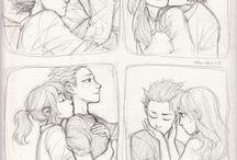 Dibujos tiernos de parejas