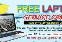 Laptop Service Free Camp 2015 / Laptop service gbs arranged free laptop service camp in chennai , bring your waterlogged to our exclusive laptop service center in chennai and available this offer (From Dec14th to Dec 31 2015) More info visit - http://www.laptopserviceatgbs.com/