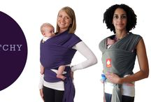 Stretchy Wraps / A stretchy wrap is a superbly comfortable and supportive way to carry your baby. A long piece of stretchy fabric that moulds its way around you and your baby, the stretchy wrap suits premie babys to babies 13 months old.