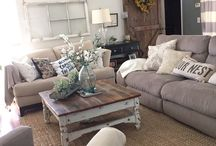 Living Room Decoration / Home Decoration Ideas, Living Room, Cozy, Country, Modern, Home Decor,