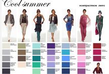 shades of summer / colourtype summer inspiration cold & soft