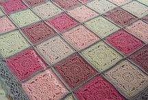 Crochet patchwork color schemes / Crochet patchwork