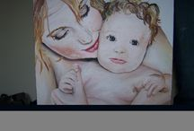 Paintings / Portrait and figurative painting manly in acrylics and oils