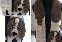 Dog Scarves / Here is my collection of crochet dog scarves. Coming up is: Pekingese, Airdale and Labrador.