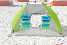 Beach Tents /  Headed for a fun-filled day at the beach with your family? You might want to consider taking a tent or cabana along. Although not on the top of your list of beach equipment; their benefits make them well worthy of inclusion.