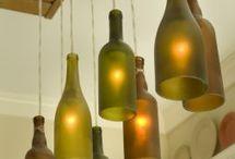 lamparas con botellas