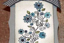 Flower, swirl & vine cards