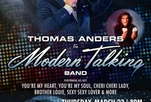 DC Thomas Anders & Modern Talking Band - March 23 2017 / Board about the upcoming Thomas Anders & Modern Talking Concert in Washington DC DAR Constitution Hall on March 23 2017