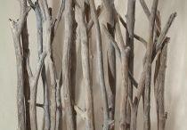biombos / biombos con madera flotada