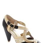 Black/Gold Vintage Shoes
