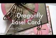 Video dragonfly easel card