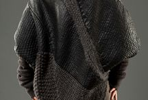 вязание+кожа