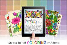 Stress Relief Coloring Book / Stress Relief Adult Color Book uses the healing power of art in a research driven therapeutic science to help you get relief from stress, anxiety, depression, dementia, PTSD and other related conditions. Research shows that coloring has various therapeutic benefits.