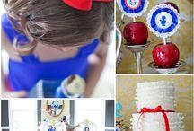 Festa Branca de Neve - Snow White Party / Inspiração para festinha de 1 no de meninas Branca de Neve tema  - inspiration for 1 year girl Party Snow White treme
