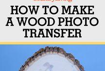 Wood photo transfer