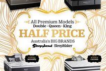 OCTOBER 2016 / Double, Queen, King Mattresses - Premium Sleepyhead & Sleepmaker Models - Half Price NOW!