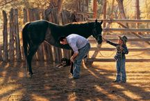 Family Time / Cowboys, Cowgirls, Horses and Family