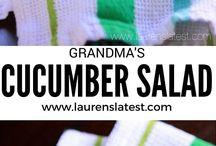 Cucumber salade