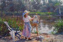 malarstwo - pejzaże i ogrody