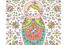 Matryoshka / Russian Nesting Dolls -I've been fascinated with these since I was a little girl