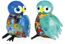 Feathered & Winged Creatures! / #Glass feathered and winged creatures reside here! Including #Owls #Peacocks #Butterflies #Pelicans #Dragonflies #Flamingos #Penguins #Birds #Chickens #Roosters and many more!